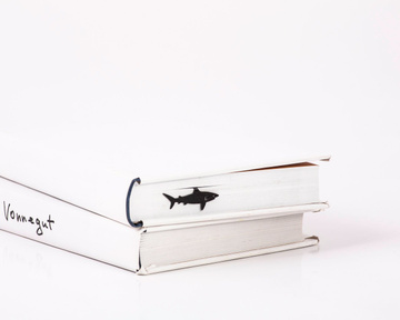"Metal Book Bookmark ""Shark"" by Atelier Article, Black"