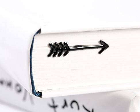 "Metal Bookmark ""Arrow"" by Atelier Article, Black"
