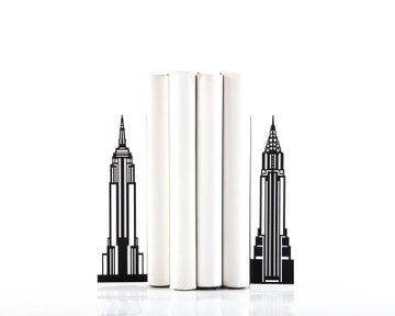 Metal bookends «Towers of New York» by Atelier Article, Black