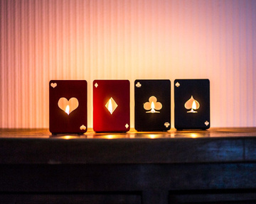 "Four candle holders ""Playing lights"" by Atelier Article"