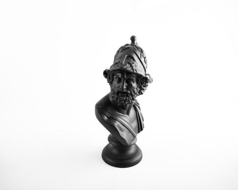 Black Bust Pericles Ceramic Plaster Sculpture by Atelier Article, Black