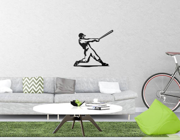 Metal Baseball Player II // Wall Hanging Art for a home of a baseball fan // by Atelier Article, Assorted