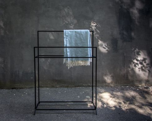 Skinny Clothes Rack // Hanger for Towels // Display for Blankets by Atelier Article, Black