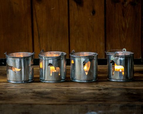 """Nordic Buckets"" Candle Holders by Atelier Article"