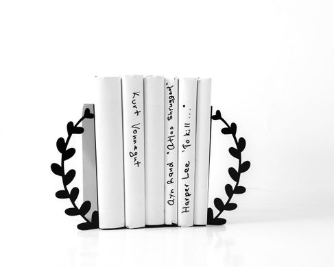 Metal bookends «Black Wreath» by Atelier Article, Black
