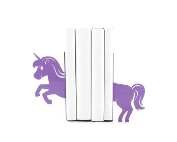 Nursery bookends «Unicorn» by Atelier Article, Purple