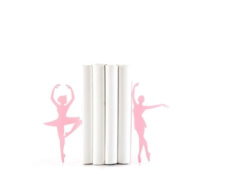 Metal Bookends «Ballerinas – Passé simple» Pink edition by Atelier Article, Pink