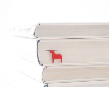 "Metal Bookmark ""Red Dala Horse"" by Atelier Article, Red"