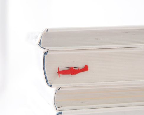 "Metal Bookmark ""Red Fighter Plane"" by Atelier Article, Red"