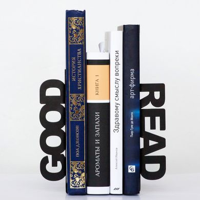 Unique Metal Bookends «Good read» by Atelier Article, Black