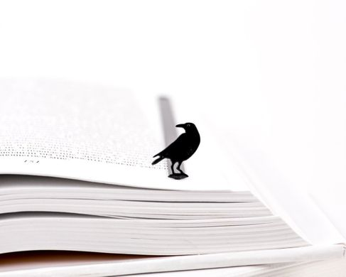 "Metal Bookmark ""RAVEN"" by Atelier Article, Black"