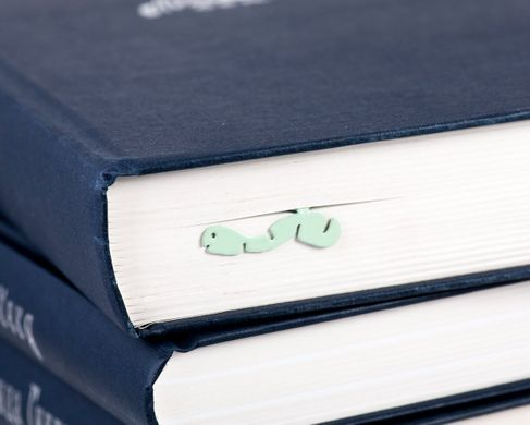 "Metal Bookmark ""Happy Bookworm""  by Atelier Article, Green"