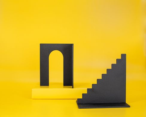 Heavy metal bookends Basic Shapes, Black