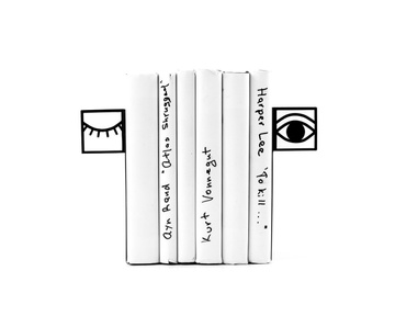 Metal Bookends «One eye closed», Black