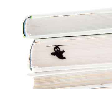 "Metal Bookmark ""Ghost in my book"" by Atelier Article, Black"