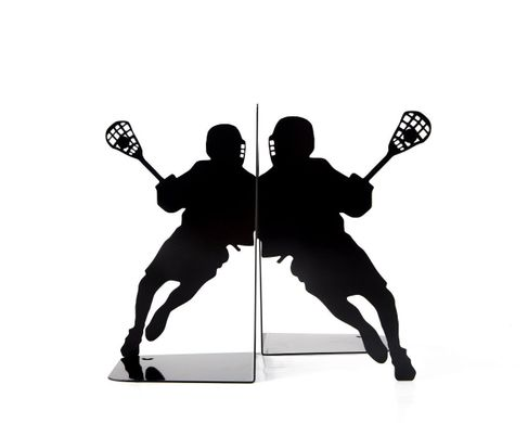 "Metal bookends ""Lacrosse"" by Atelier Article, Black"
