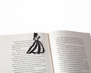 Metal Bookmark / Reading Princess / by Atelier Article, Black