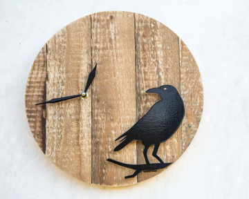 "Wall Clock ""Raven"" by Atelier Article"