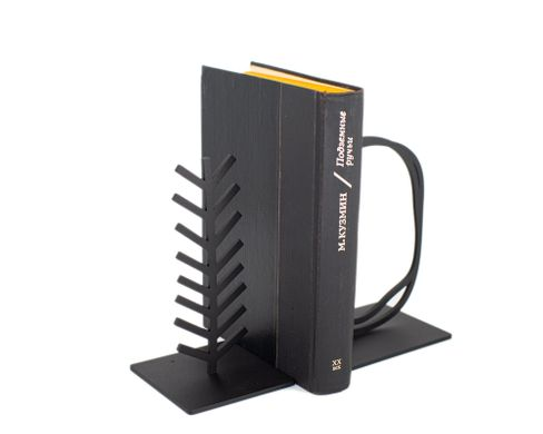 Heavy metal Bookends Pond and a Tree, Black