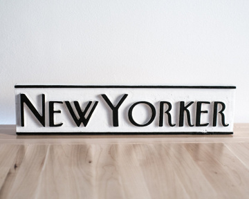 New Yorker Wood Sign //  Black and White Wall Art // Handmade by Atelier Article, Assorted