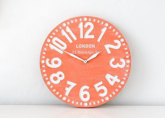 "Wall clock ""Coral London"" by Atelier Article"