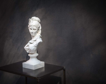 Woman's Bust Semi Nude Young Woman Chalk Classical Sculpture by Atelier Article