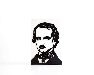 One Decorative bookend Edgar Allan Poe // modern functional decor for the smartest books by Atelier Article, Black