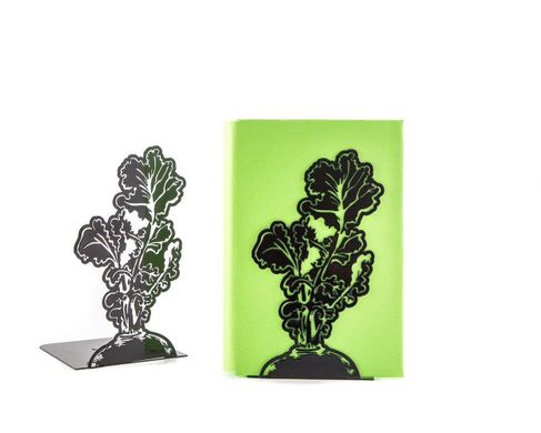 "Metal bookends ""Beetroot"" by Atelier Article, Black"