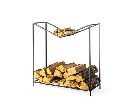 Log Holder Firewood Storage // Montana // by Atelier Article, Black