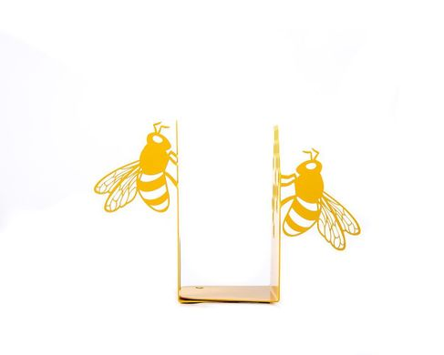 "Metal Bookends ""Bee Library"" Childrens room bookends  by Atelier Article, Yellow"