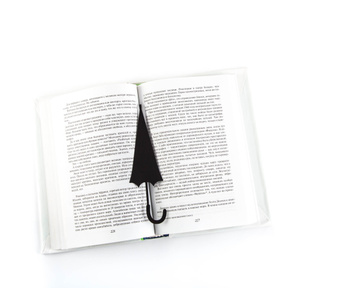 "Metal bookmark ""An Umbrella in Your Book"" by Atelier Article, Black"