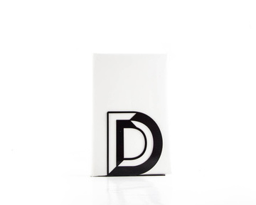 One metal bookend D -Letters are beautiful- alphabet series by Atelier Article, Black
