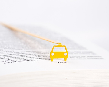 "Metal Bookmark ""NYC Yellow cab"" by Atelier Article, Yellow"
