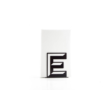 One metal bookend E -Letters are beautiful- alphabet series by Atelier Article, Black