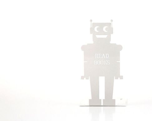 A Bookend for nursery Robot White edition by Atelier Article, White