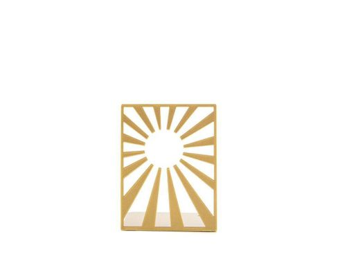 Metal bookends «Sun is Out» golden metallic edition by Atelier Article, Golden