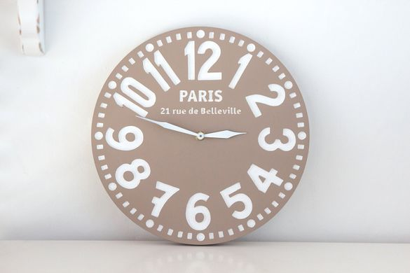 Pseudo Vintage Wooden Clock Handmade // Housewarming /graduation gift // pastel brown // Great for Shabby Chic Room Decor / FREE SHIPPING