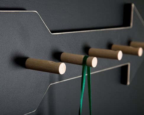 Coat Rack hanger Arrow - birch wood by Atelier Article, Black